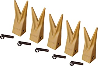 Backhoe Bucket Cat Style Tiger Teeth with pins & retainers, Set of 5, 1U3202WTL