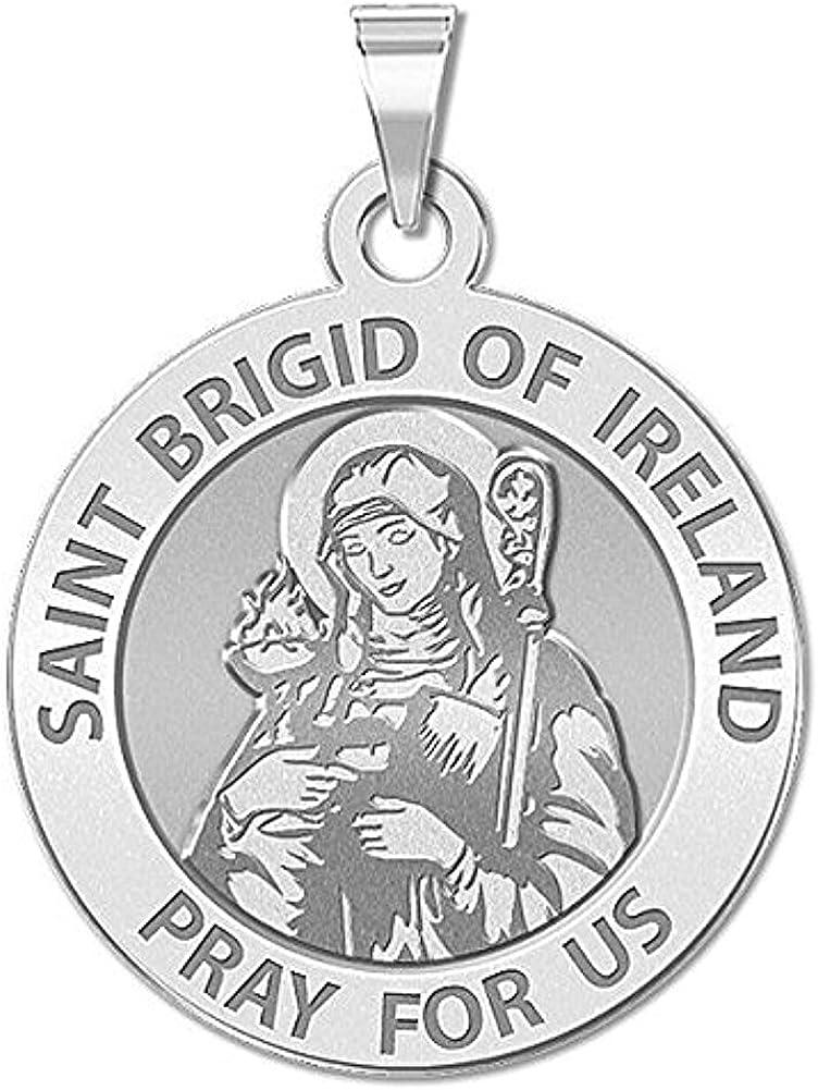 PicturesOnGold.com Saint Brigid of Ireland - latest Medal 2 Religious Max 72% OFF