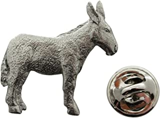 Sarah's Treats & Treasures Donkey or Mule Pin ~ Antiqued Pewter ~ Lapel Pin