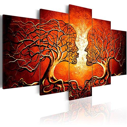 murando - Bilder Bäume Liebe 200x100 cm Vlies Leinwandbild 5 TLG Kunstdruck modern Wandbilder XXL Wanddekoration Design Wand Bild - Abstrakt h-A-0086-b-n