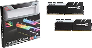 ذاكرة كمبيوتر جي سكل DDR4 سعة 16 جيغا 8X2 سرعة 3200 بإضاءة متعددة أزرق اخضر أحمر RGB