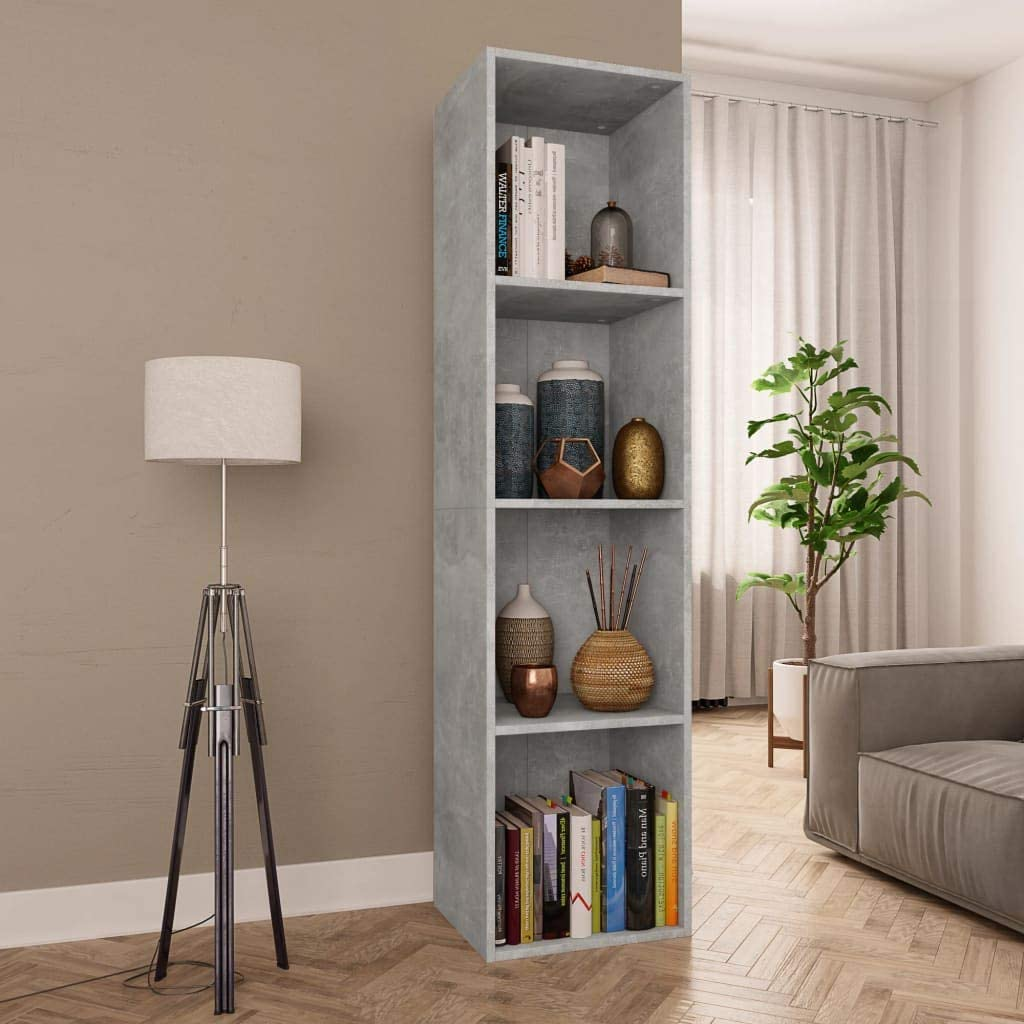 LUCKDEER Book Cabinet TV OFFicial site Concrete Ranking TOP15 Gray 14.2