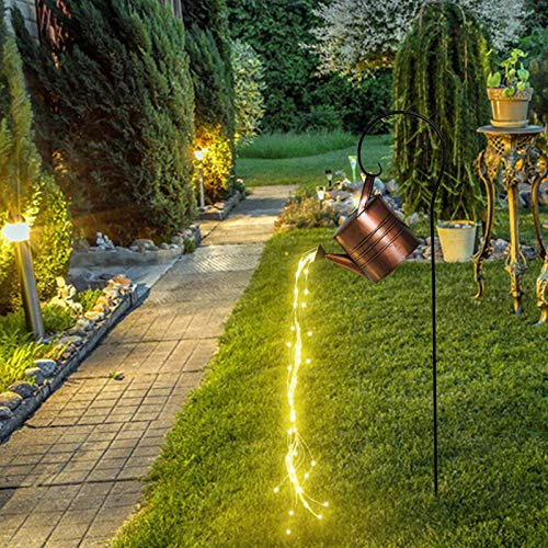 Luces exteriores de jardín de ducha de estrella, regadera de riego, luces solares, farolillos, luces de estrella para las luces de camino de jardín de patio