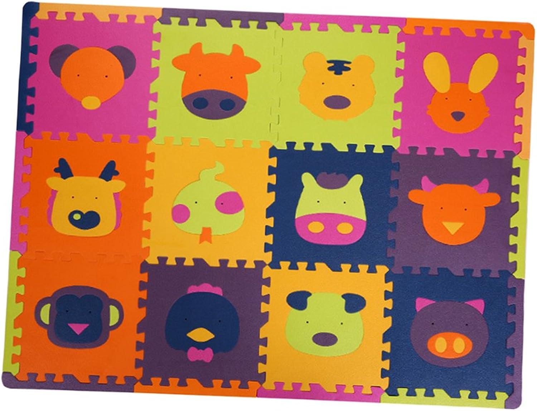 F Fityle 12pcs Puzzlematte Kinderteppich Spielteppich