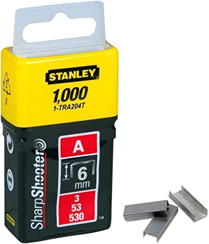 STANLEY 1-TRA204T Plastic Light Duty Staples A-Type-6mm/1/4'' (1000 pins)