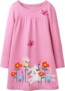 Girls Cotton Long Sleeve Dress
