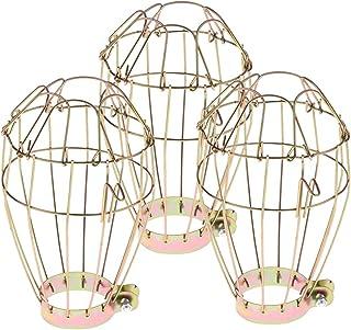 熱ランプの金のための3個のPCの絶縁材の保護防護爬虫類の網のランプシェード