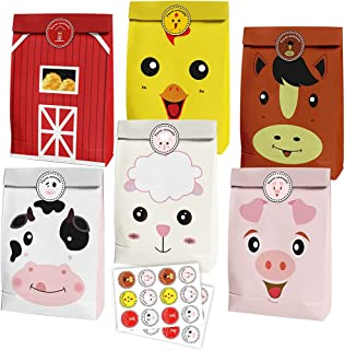 24 PCS Farm Animals Party Goody Bags Party Supplies for Baby Shower Farm Themed Birthday Party Decoration