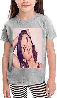 2~6歳の子供用Tシャツ アイドルミュージックSelena Gomez 活気に満ちた素敵な、学校、旅行、スポーツ、綿の半袖Tシャツ