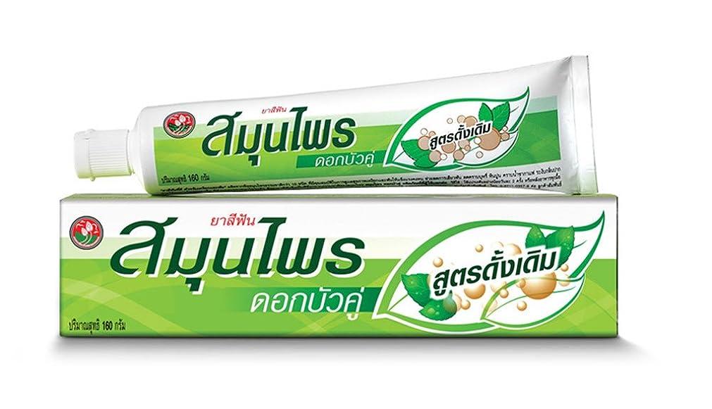 落胆させる忌み嫌う幸運な練り歯磨き ハーブ Twin Lotus Thai Herbal Toothpaste 160 G.
