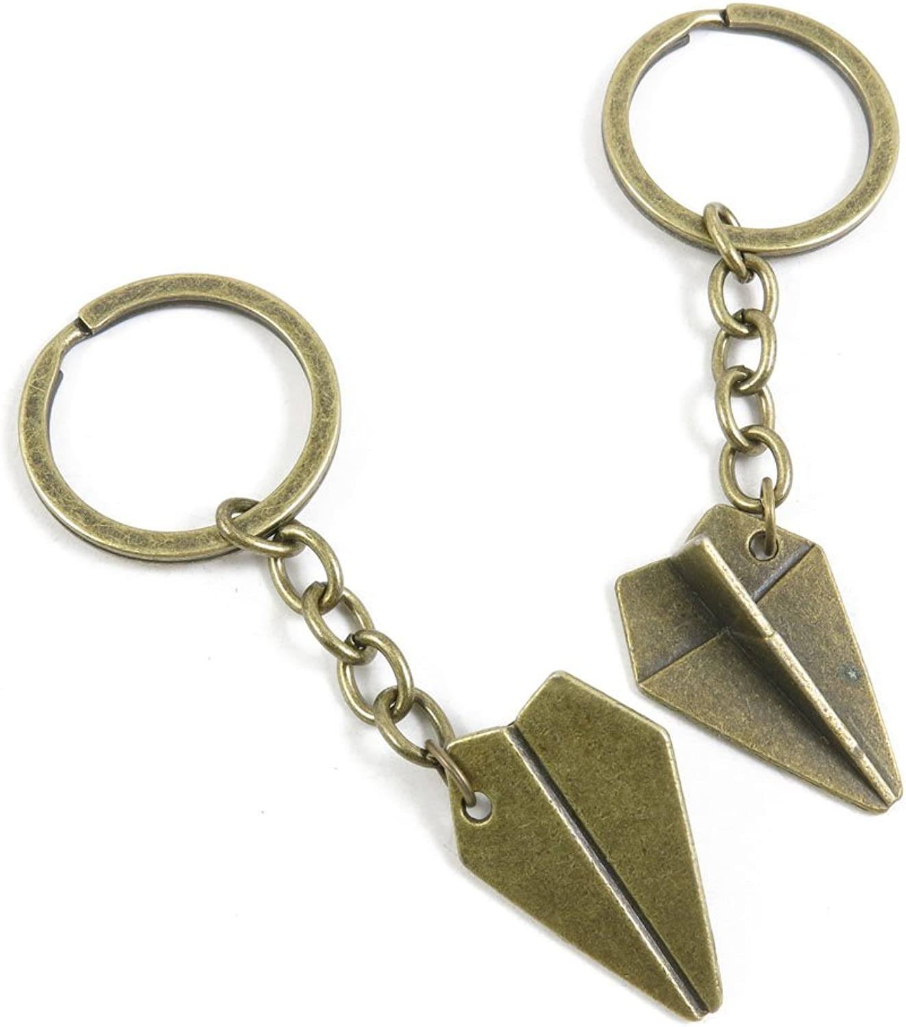 140 Pieces Fashion Jewelry Keyring Keychain Door Car Key Tag Ring Chain Supplier Supply Wholesale Bulk Lots R2NW2 Paper Airplane