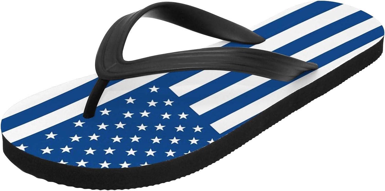American Flag Sandals for Men Women Custom Anti-Slip Casual Flip Flops Outdoor Gifts for Birthday,White,Women 10,Men 9