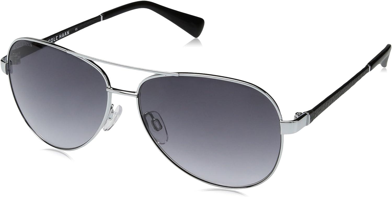 Cole Haan Women's Ch7000s Aviator Sunglasses LIGHT GUNMETAL 59 mm