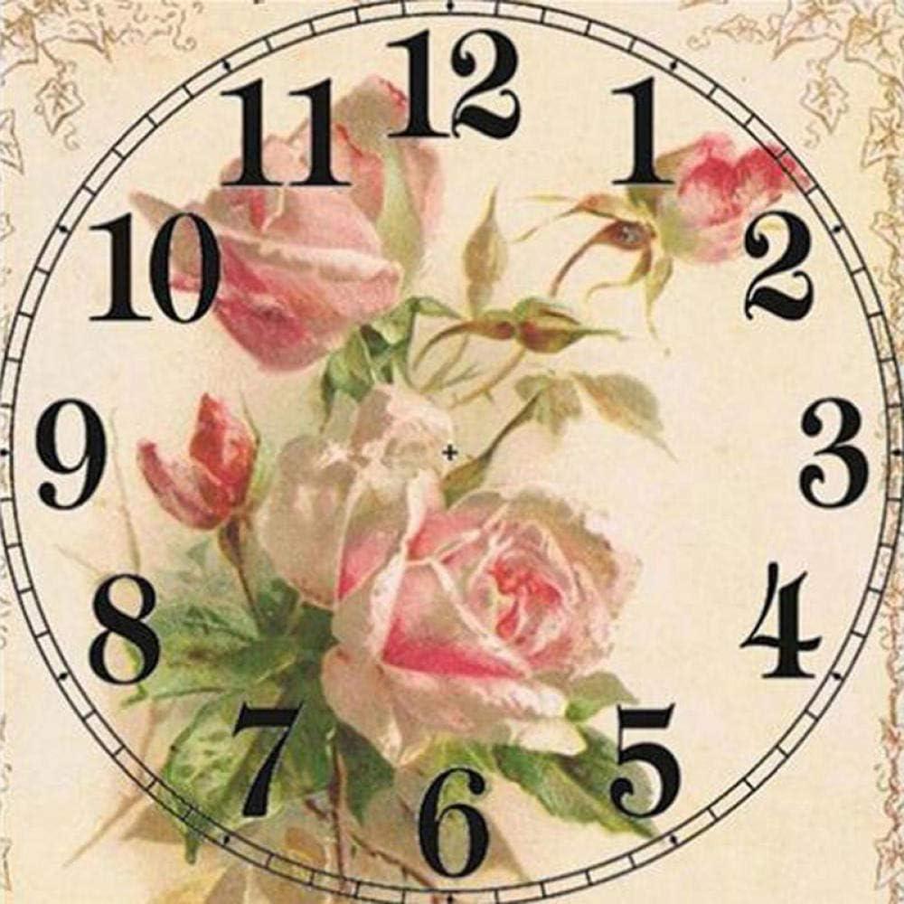 Diamond Painting 5D Clock P Rhinestone 45x45cmDIY Challenge the lowest price of Max 59% OFF Japan Flower