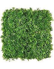 ULAND ウォールグリーン 壁面緑化 フェイクグリーン 人工 観葉 植物 マット 壁掛け 造花 ミックス リーフ ラベンダー 緑 店舗装飾 芝生 インテリア