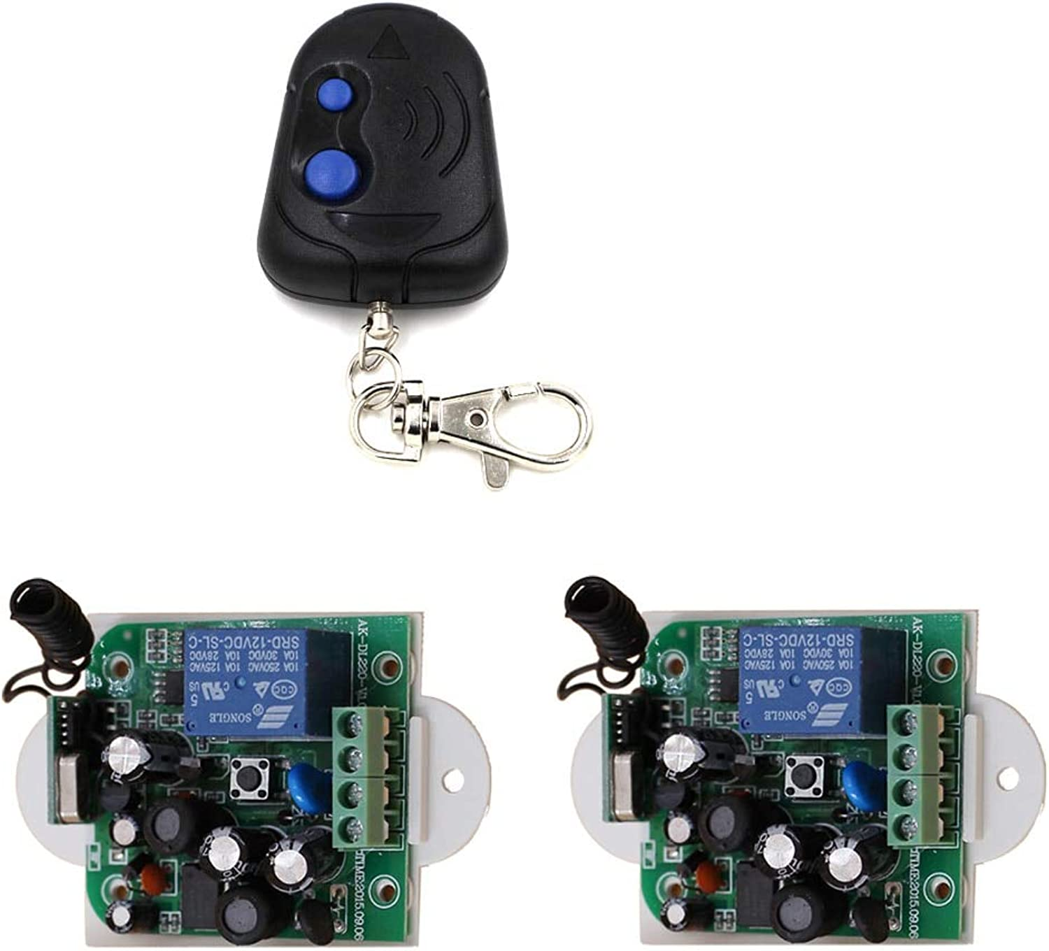 Popular Wireless Remote Control Switch AC 85V  250V 110V 220V 1CH Relay Receiver Module and Transmitter 315Mhz  433Mhz(color  315MHZ)