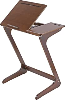 TV Tray Table NNEWVANTE Z Snack Tray Multipurpose Side End Table Laptop Desk Serving Tray Fit Sofa Couch Bed with Adjustable Tilt Desktop Feet Mat ZLN001