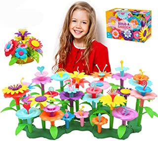 Flower Garden Building Toys, Gardening Pretend Gift for Kids, Educational Creative Playset Build Bouquet of Educational Ac...