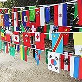 Zhengpin 東京オリンピック国旗 2018ワールドカップクロスフラグ バーファンの装飾 32フラグのラウンド 32か国 パーティーデコレーション