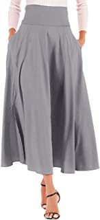 Best grey split maxi skirt Reviews