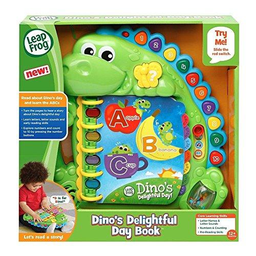 LeapFrog 600503 Dino's Delightful Day Jouet éducatif et interactif pour bébé avec Musique et Son et Livre pré-Scolaire pour garçons et Filles de 1, 2, 3, 4 Ans et Plus