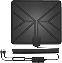 HDTV Antenna,130+ Miles Long Range Indoor Digital TV Antennas with 2019 Newest Switch Amplifier Signal Booster for Local Free Channels 4k HD 1080P 2016P All Older TV's - 16.5ft Coax Cable