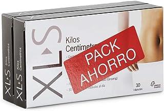 XL-S Kilos Centímetros Captagrasas Adelgazante, Tratamiento para Perder Peso, Reductor de Apetito con Guaraná y Ginseng - Pack Duplo 2 x 30 Comprimidos, 1 Mes de Tratamiento