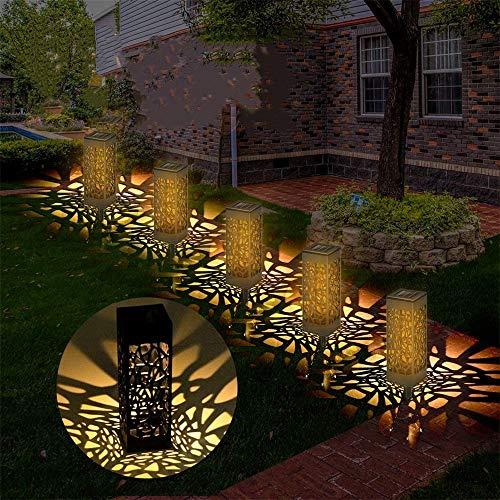 ERWEY 4 Stück Solarleuchte Garten, Solar Gartenleuchte Solarleuchten Garten Wasserdicht IP65, Solarlampen für Garten, Solarlampen für Außen LED Solar, Solarleuchte Outdoor IP65 Wasserdicht (4 Pack)