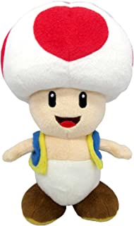 "Sanei Super Mario All Star Collection 7.5"" Toad Plush, Small"