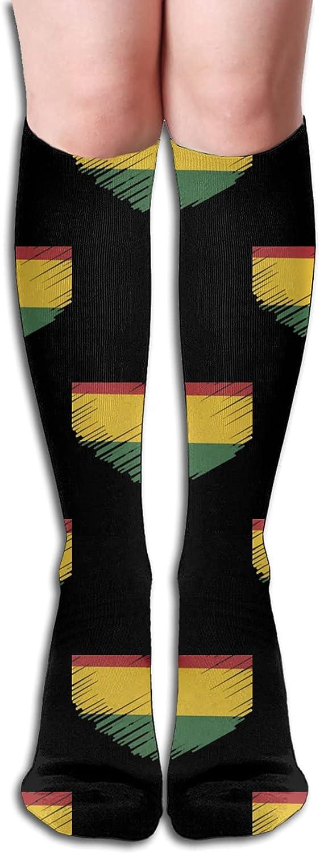 Max 80% OFF Rasta Flag IN HEART SHAPE Socks Athletic fo New life Men for Women