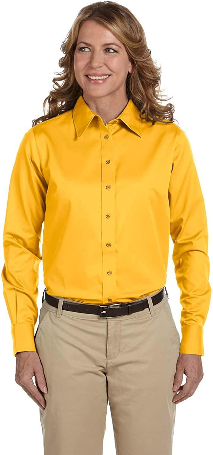 Harriton Easy Blend Long-Sleeve Twill Shirt with Stain-Release (M500W)