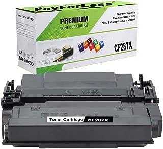 PayForLess Compatible for HP 87X CF287X HP 87A CF287A Toner Cartridge for HP Laserjet M506 HP M506n HP M506x HP M501dn HP M506dn MFP M527 M501n
