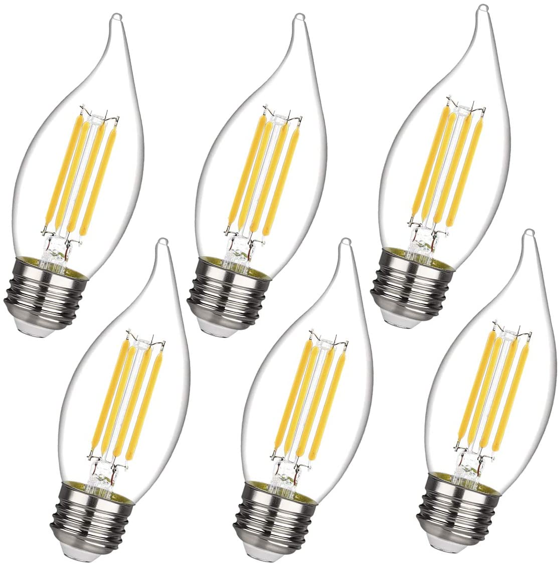 C35 CA11 Chandelier led Light Max 64% OFF Limited price Bulbs Equivalent 4 4W Dimmable to