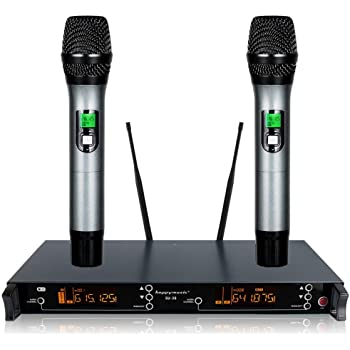 200 Channel Dual UHF Professional Wireless Microphone System Karaoke, Wedding, Conference,Evening Party, Meeting, Stage (SU-38)