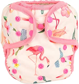 One Size Cloth Diaper Cover Snap With Double Gusset (Flamingo)