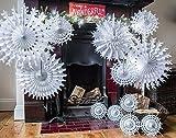 Papel blanco tradicional de los copos de nieve de...