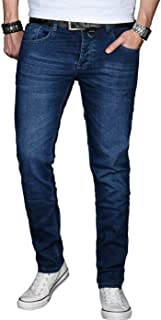 A. Salvarini Designer Herren Jeans Hose Regular Slim Fit Jeanshose Mode Stretch