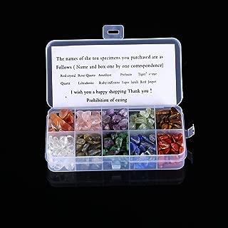 DIIZBEE Crystal Quartz,1/2 lb10-Stone Mix:Red Crystal,Rose Quartz,Amethyst,Prehnite,Tiger's Eye, Quartz,Labradorite,Ruby in Zoisite,Lapis Lazuli,Red Jasper,Natural Tumbled Stones for Cabbing