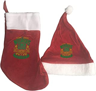 Conor McGregor UFC Champion Christmas Stockings and Santa Hat Gift/Treat Bags Xmas Party Mantel Decorations Ornaments Red