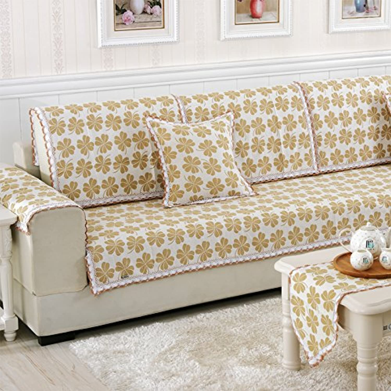 disfrutando de sus compras HL-Lino HL-Lino HL-Lino Tejido de algodón cojín sofá sofá Set para Todos los Four Seasons General Sofá Sofá Tela pao Acolchado Color Caqui,una Cara,120  180  promociones