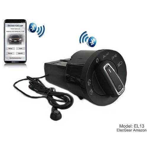 EL13 Bluetooth App Sensor de luz Faros interruptor, Faro Niebla Luces Antiniebla Interruptor de luz