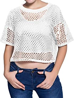 white netted top