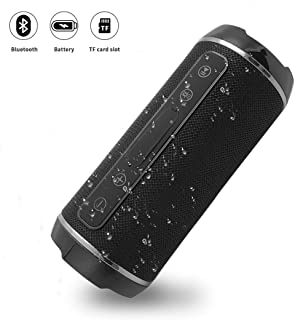 comprar comparacion YOMYM Altavoz Bluetooth Bocinas Estéreo Premium 10W, Altavoz Inalámbrico Portátil con Subwoofer,Llamadas Manos Libre y TF ...