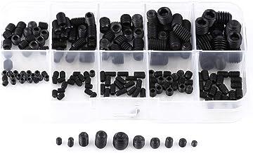 200-delige inbussleutel set, 12,9 klasse gelegeerd staal M3-M8 3 mm-8 mm zeskantschroef en schroefassortiment met 13 x 6,5...