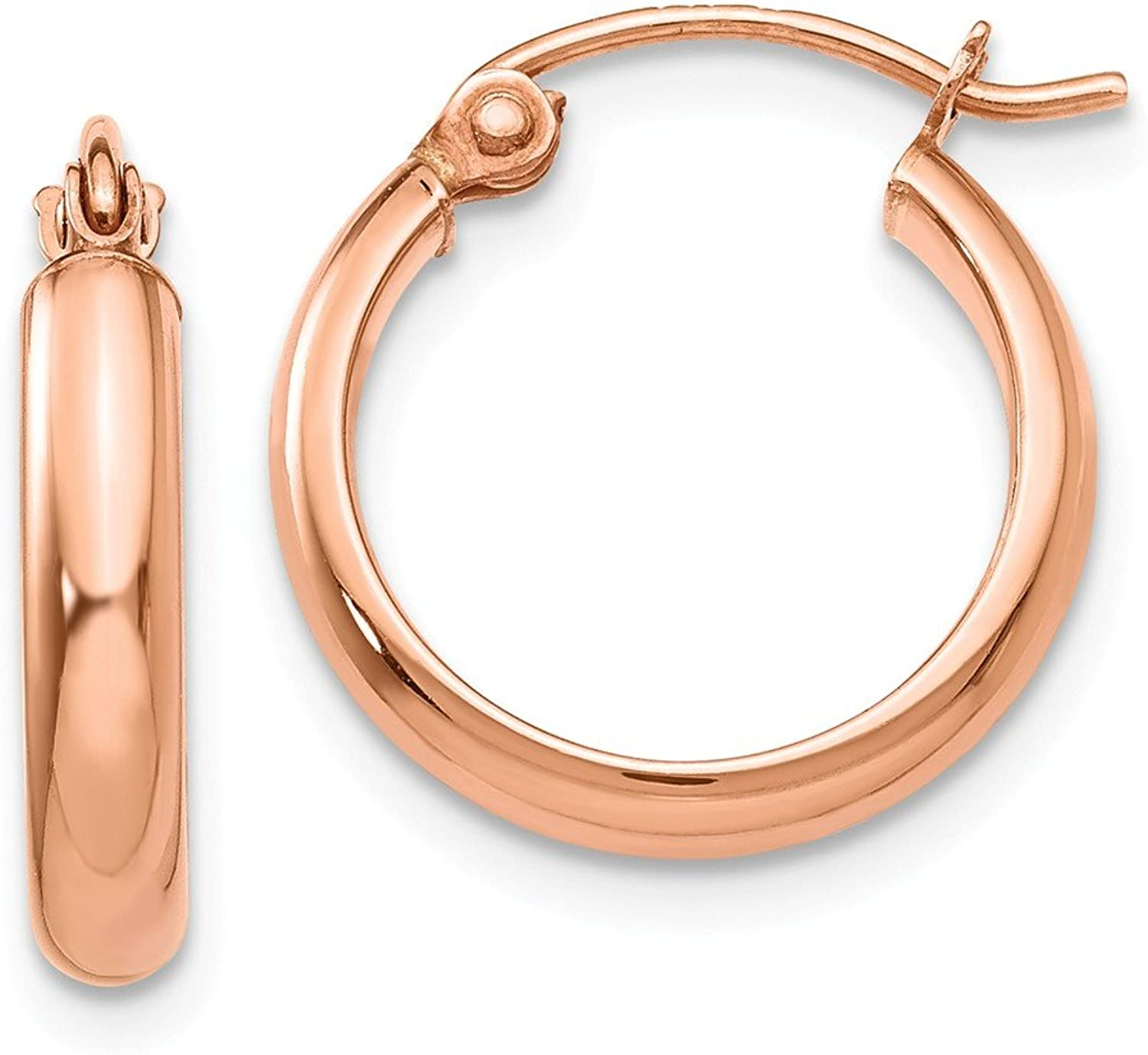 Beautiful pink gold 14K 14k pink gold Hoop Earrings