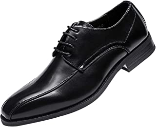 GYUANLAI Men's Leather Shoes Handmade Leather Modern Classic Perforated Dress Shoes Oxfords With lacing Shoes