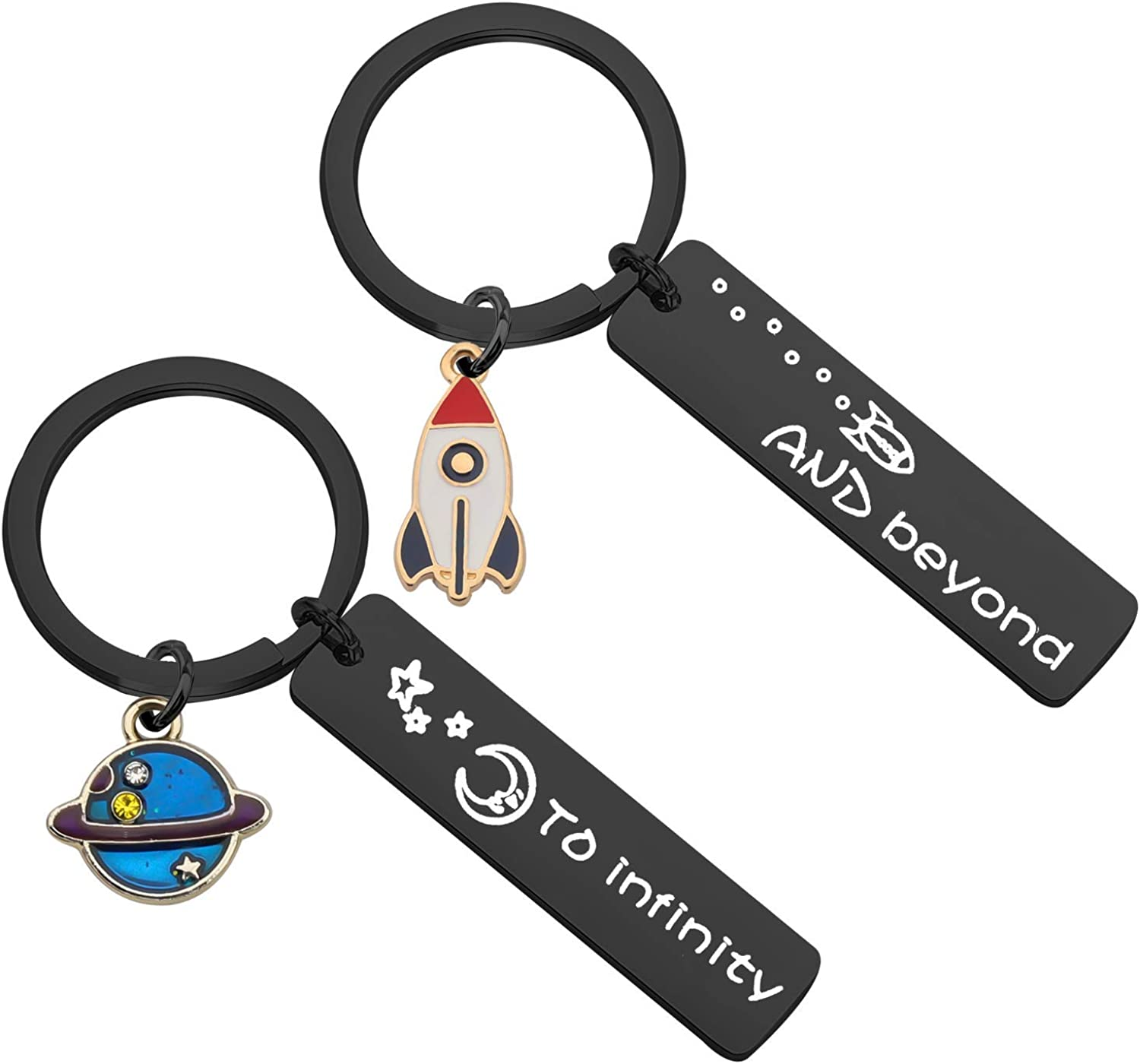 MAOFAED High quality San Francisco Mall Couples Keychain I Love You Boyfr Beyond to and Infinity
