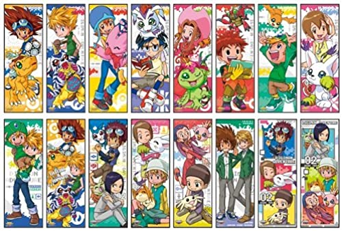 Digimon Adventure Series Character Poster Collection BOX Ware 1BOX = 8 Packungen, 1 Packung = Plakat 2 Stuck, alle 16 Typen