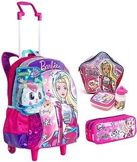 8c4f00864 Kit Mochila Infantil Barbie Aventura Nas Estrelas Prata C Alças Rodinhas  Tam G Sestini