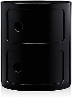 Kartell 2 lådor svart Componibili mångsidig lagringsenhet